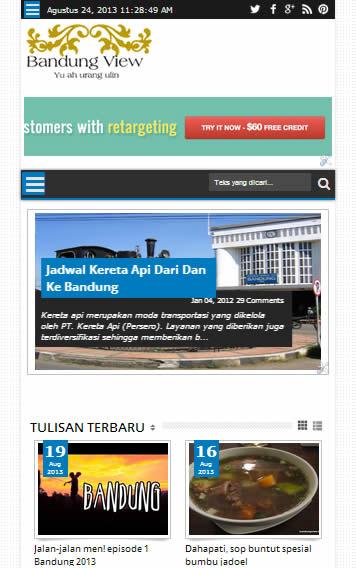 Bandung View | tampilan mobile dari Android 2.3 - Nexus S